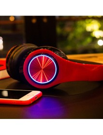 Bakeey BH3 Foldable LED Flashing Stereo bluetooth Headphone Heavy Bass AUX TF Card