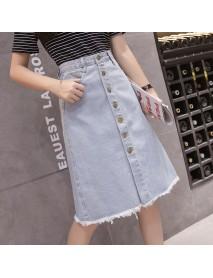 9612# Large Size Denim Skirt