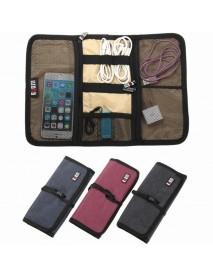 BUBM M Digital Storage Bag Folding Carry Case Spring Rolls Shape Cable Power Bank Drive Bag