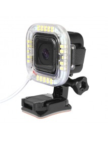 1.9W 160 LM 38pcs USB LED Flashlight Ring For GoPro Hero 4 Session