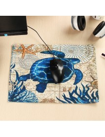 30*40cm Table Pad Cotton Linen Heat Insulation Waterproof Tablecloth Meal Cup Mat Mouse Pad