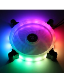 12cm 16million Color RGB LED Quiet Computer Case PC Cooling Fan +Remote Control