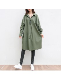 Back Letter Printing In The Long Section Of The Shirt Women's Season Plus Fertilizer XL 200 Pounds Fat Mm Loose Cardigan