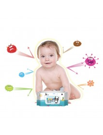 60Pcs/Pack Children Wet Wipes Hands Mouth Cleaning Paper Non-Fluorescent for Healthcare Cleaner