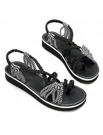 Bohemia Bandage Slip On Women Flat Sandals Shoes