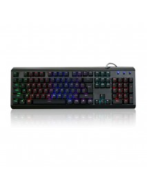 104Keys Blue Switch 7Colors RGB LED Backlight Waterproof USB Ergonomic Mechanical Gaming Keyboard