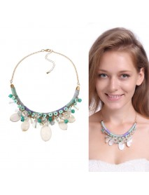 Bohemian Gold Trendy Party Shell Crystal Necklace Clothing Accessories for Women