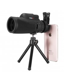 40x60 Telephoto Monocular Camera Lens Phone Clip with Tripod