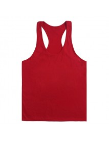 Men's Musculation Elastic Vest Bodybuilding Clothing Solid Tank Tops Plain Cotton Undershirt