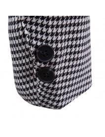 Mens Business Casual Plaid Pockets Single Breasted Design Slim Blazers
