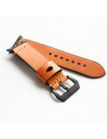 Crazy Horse Genuine Leather Watch Band For Apple Watch Series 1/ Series 2 38/42mm