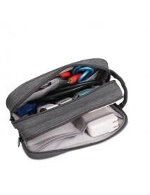 BUBM DLP-L Universal Double Layer Charger Carry Case Electronics Accessories Travel Organizer Bag