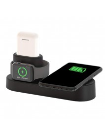 US Plug 4 In 1 Qi Wireless Charger Charging Station For Smart Phone/Apple Watch Series/Apple AirPods