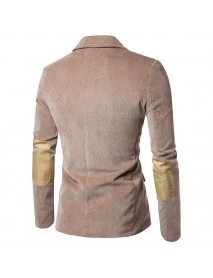 Men's Slim Fit Corduroy Two-Button Turn Down Collar Blazers Suits