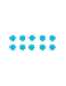 10Pcs Blue Transparent 30MM Card Button Crystal Small Circular Arcade Game Push Button Switch