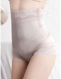 High Waist Jacquard Tummy Control Butt Lifter Shaping Panties