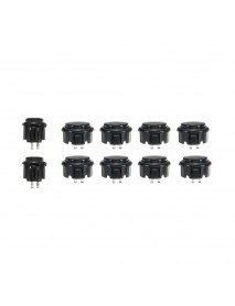 30mm 24mm Black Push Buttons for Arcade Game Joystick Controller MAME