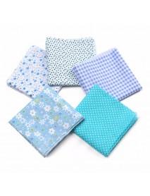 5PCS/Set 19.7'' Series Fabric Cotton Bundles Fat Quarters Polycotton Material Florals Gingham Spots Non Woven Fabric