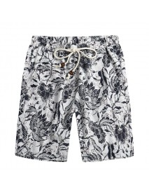 Floral Printing Ethnic Pattern Summer Leisure Holiday Beach Board Shorts fore Men