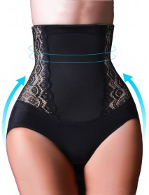 High Waisted Embroidery Lift Hips Tummy Shaping Panties