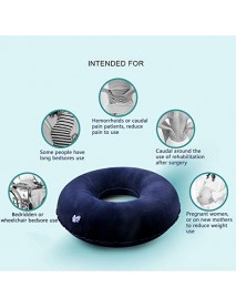 Yuwell Inflatable Seat Cushion Portable Foldable Ring Pillow Medical Home Seat Cushion for Adult Child Bedsores Hemorrhoid Tailbone People