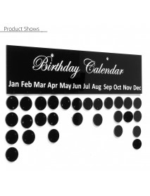 Family Birthday Calendar Board Sign Reminder Planner Dates Hanging Decorations Gift