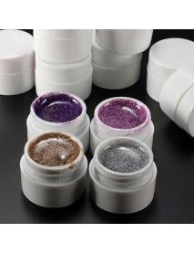 12 Colors Nail Art False French Glitter UV Gel Builder Polish Set