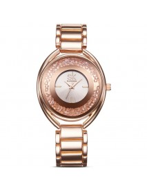 SK K0016 Luxury Women Bracelet Watches with Diamond Golden Watch Band Jewelry Ladies Watches