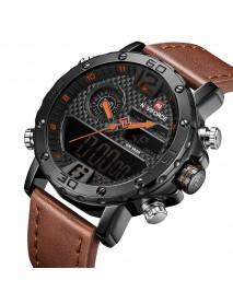 NAVIFORCE NF9134 Chronograph Dual Display Watch Waterproof Military Style Digital Watch