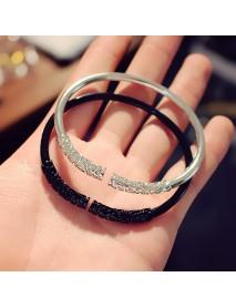 Unisex Retro Golden Cudgel Bangle Bracelet Punk Silver Gold Black Cuff Bracelets for Men Women