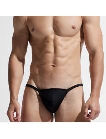 Bikini Solid Color Low Waist Swim Briefs Swimwear For Men