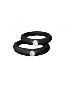 5MM Colorful Environmental Silicone Ring Rhinestones Couple Rings Wedding Gift for Men for Women