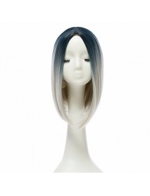 14 Heat Resistant Synthetic Gradient Color Cheap Hair Wig Ombre Medium Long Straight Silk Lace