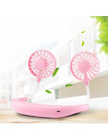 Portable Sports Mini Fan USB Charging Mute Hanging Neck Fans Folding Fan for Outdoor Travelling