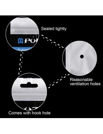 PULUZ 10pcs 26cm x 18cm Hang Hole Clear Front White Bag for Gopro Accessories