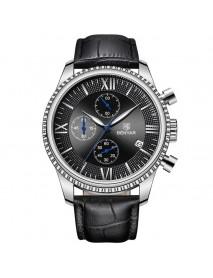 Benyar 5129X Business Men Watch 3ATM Waterproof Luminous Display Calendar Quartz Watch