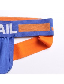 JOCKMAIL Mens Contrast Color Home Briefs Soft Mesh Breathable Thongs