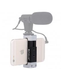 Puluz PU370 Universal Aluminum Alloy Cold Shoe Photography Phone Holder Clamp Bracket