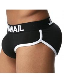 JOCKMAIL Removable Cup Pad Hip Rise U Convex Cotton Briefs for Men