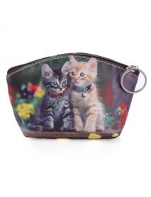 Cute Cat  Dog Coin Purse Wallet