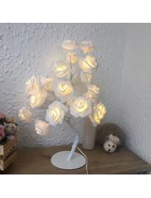 24 LED Rose Flower Table Lamps Desk Night Light Decorative Indoor Bedroom
