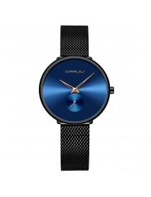 CRRJU 2165 Fashion Full Steel Strap Casual Simple Dial Luxury Women Quartz Watch