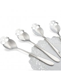 KCASA KC-FS05 Skull Shape Stainless Steel Tea Coffee Sugar Stirring Spoon Cooking Spoon 1 Piece