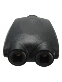 2 Way Optical Digital Splitter Adaptor Duplicator For Toslink Fibre Audio Cables