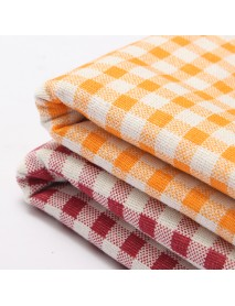 1.55M Cotton Linen Fabric Vintage 1.55M Patchwork Batiks Grid Bundle Sewing Photography Props