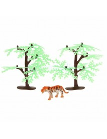 68PCS Plastic Farm Yard Wild Animals Fence Tree Model Kids Toys Figures Play New