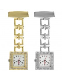 Crystal Square Nurse Watch Stainless Steel Strap Quartz Watch Pendant Pocket Watch
