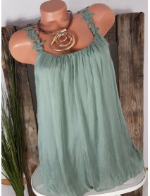 Plus Size Solid Color Rayon Sleeveless Tank Tops