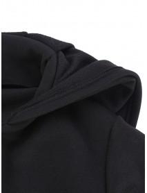 Loose Women Long Sleeve Zipper Casual Irregular Hem Sweatshirt