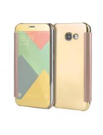 Plating Acrylic Mirror Smart Sleep Case For Samsung Galaxy A3/A5/A7 EU Version 2017